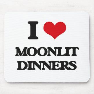 I Love Moonlit Dinners Mousepad