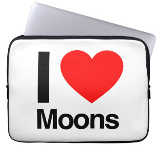 i love moons laptop sleeve