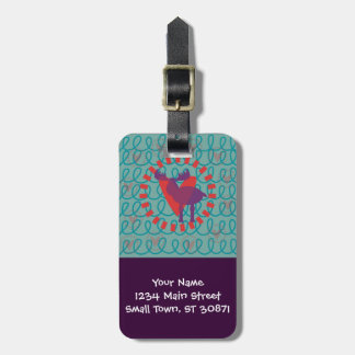 I love Moose Heart Doodle Nature Lover Design Luggage Tag