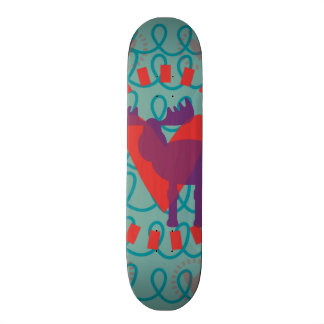 I love Moose Heart Doodle Nature Lover Design Skateboard Decks