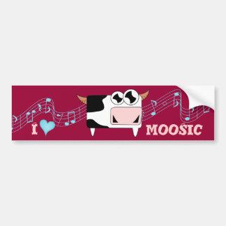 I Love Moosic Bumper Sticker