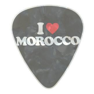 I LOVE MOROCCO PEARL CELLULOID GUITAR PICK