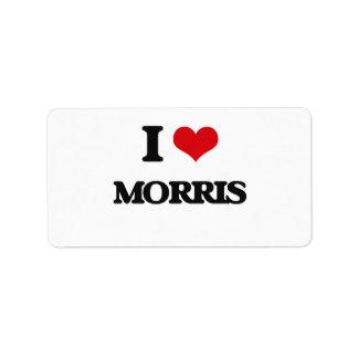 I Love Morris Address Label