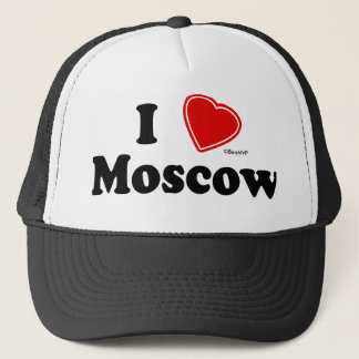 I Love Moscow Trucker Hat
