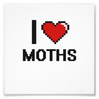 I love Moths Digital Design Photo Print