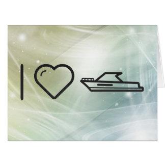 I Love Motorboats Card
