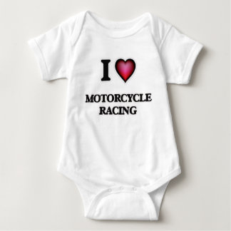 I Love Motorcycle Racing Baby Bodysuit