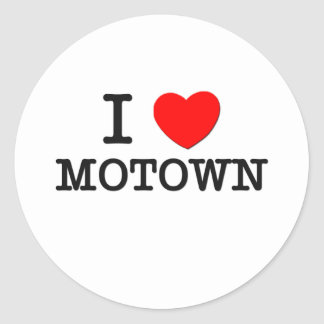 I Love Motown Classic Round Sticker