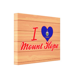 I Love Mount Hope, Kansas Gallery Wrapped Canvas