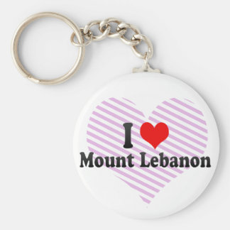 I Love Mount Lebanon, United States Basic Round Button Keychain