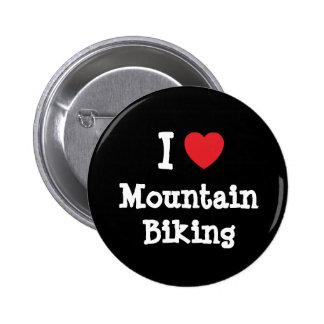 I love Mountain Biking heart custom personalized 2 Inch Round Button