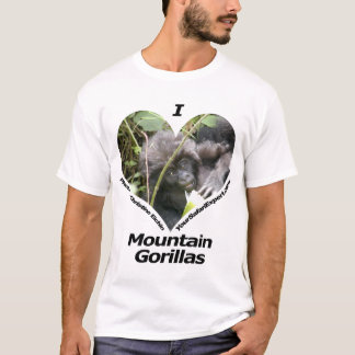 I Love Mountain Gorillas T-Shirt