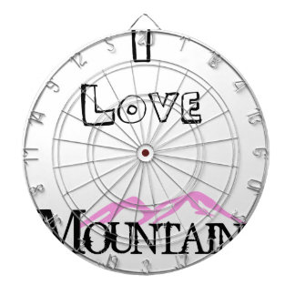 I Love Mountains Dartboard