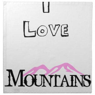 I Love Mountains Napkin