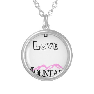 I Love Mountains Silver Plated Necklace
