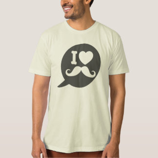I love Moustache - bubble T-Shirt