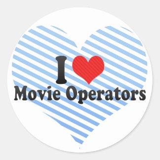 I Love Movie Operators Sticker