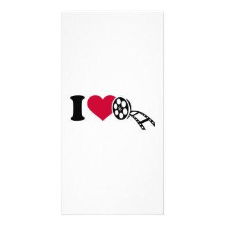 I love Movies Custom Photo Card