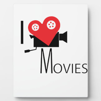 I LOVE MOVIES PLAQUE