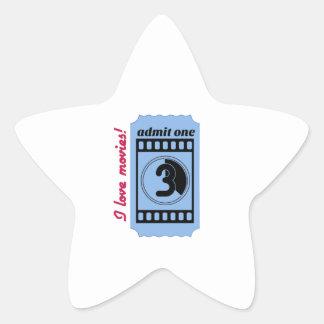 I Love Movies Star Sticker