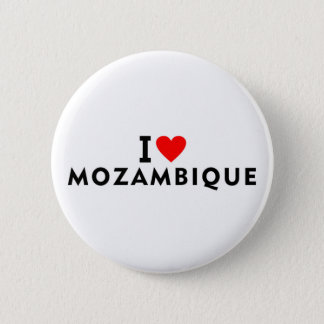 I love Mozambique country like heart travel touris 2 Inch Round Button