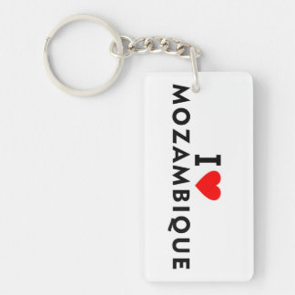 I love Mozambique country like heart travel touris Keychain