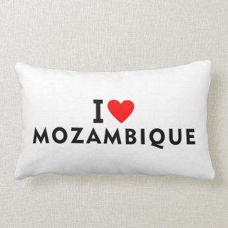 I love Mozambique country like heart travel touris Lumbar Pillow