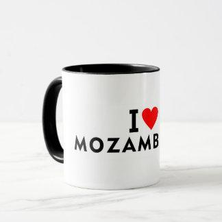 I love Mozambique country like heart travel touris Mug