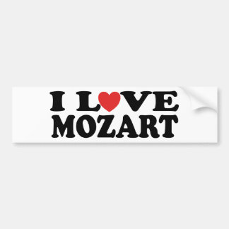 I Love Mozart Bumper Sticker