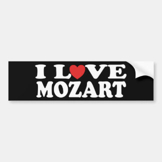 I Love Mozart Bumper Sticker