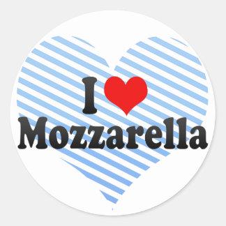 I Love Mozzarella Round Sticker