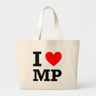 I Love MP Design Large Tote Bag