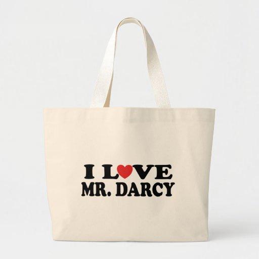 I Love Mr. Darcy Canvas Bag