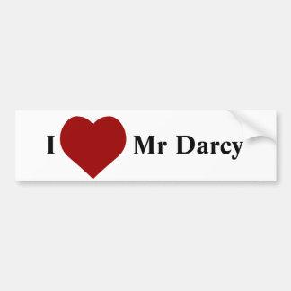 I love Mr Darcy Bumper Sticker