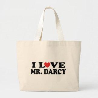 I Love Mr. Darcy Large Tote Bag