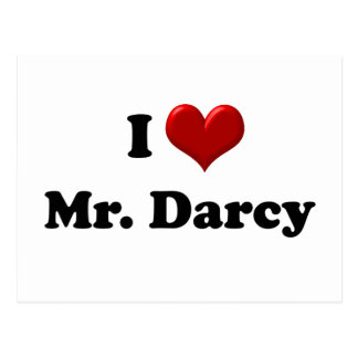 I Love Mr. Darcy Postcard