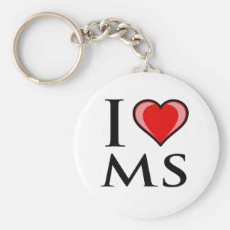 I Love MS - Mississippi Keychain