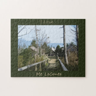 I love Mt LeConte Photo Art Jigsaw Puzzle