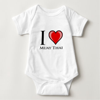 I Love Muay Thai Baby Bodysuit