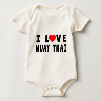 I Love Muay Thai Martial Arts Baby Bodysuit