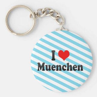 I Love Muenchen, Germany Basic Round Button Keychain