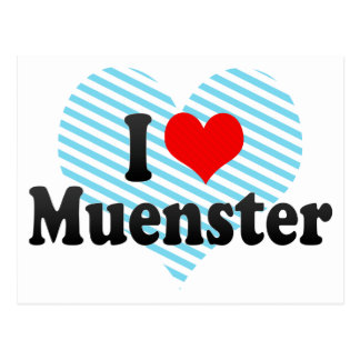 I Love Muenster Postcard