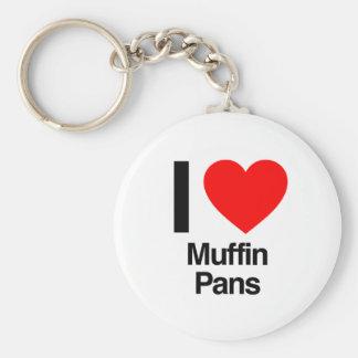 i love muffin pans keychain