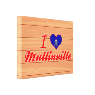 I Love Mullinville, Kansas Stretched Canvas Prints