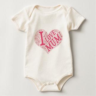 I love Mum Infant Long SleeveT-Shirt Baby Bodysuit
