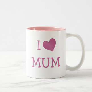 I Love Mum Two-Tone Coffee Mug