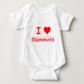 I LOVE MUMMERS BABY BODYSUIT