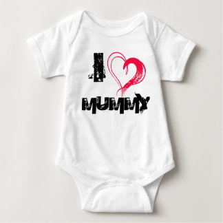 I Love mummy Baby Bodysuit