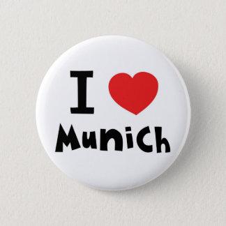 I love Munich 2 Inch Round Button