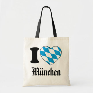 I Love Munich, Bavaria, Germany Tote Bag